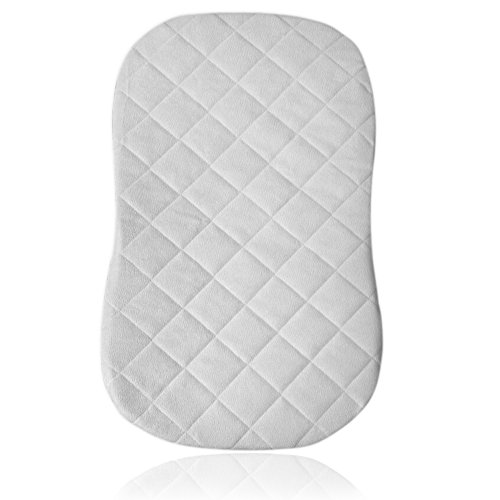 iLuvBamboo Waterproof Bamboo Mattress Pad Cover To Fit HALO Bassinest Swivel Sleeper - Secure Envelope Design - Silky Soft - Best for Machine Wash and Dryer Friendly