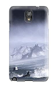 Durable Protector Case Cover With Artistic Bottlenose Dolphins Surf Hot Design For Galaxy Note 3