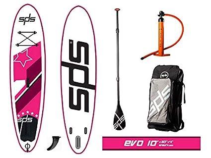 "SPS EVO 10x30""x4"" Rosa Tabla Paddle Surf Hinchable FSLU Allround Pack"