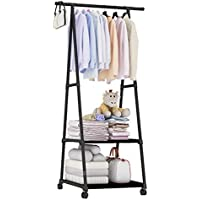 Clothes Stand and organizer, Coat Rack Metal Black
