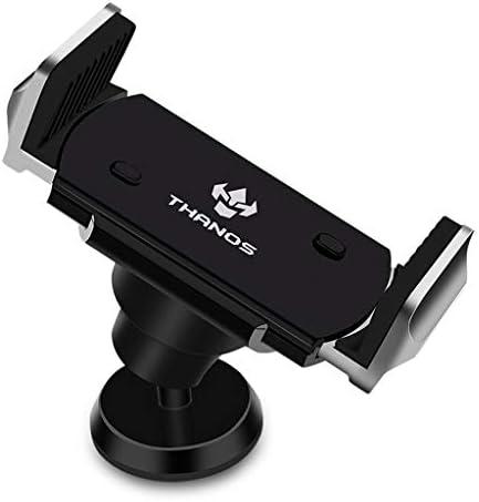 車の電話ホルダー自動メモリ360度回転ブラケットエアーアウトレットナビゲーション携帯電話ブラケット (色 : シルバー しるば゜)