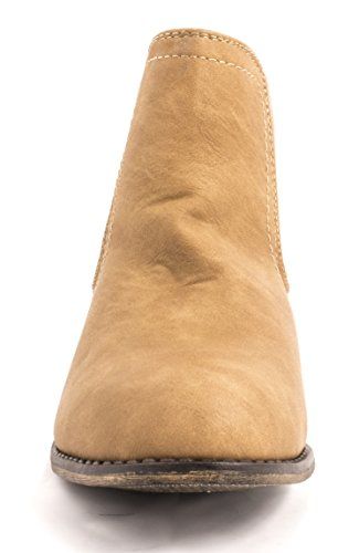 Elara - Botas plisadas Mujer Khaki Andalusien