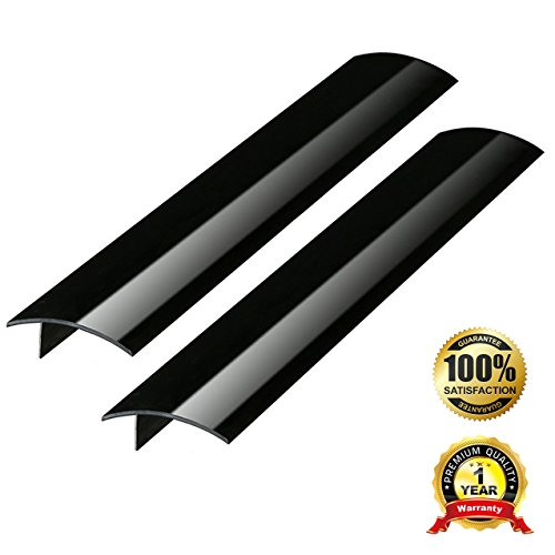 2 Pack Standard 25 Inch Kitchen Stove Gap Filler Cover - Premium Silicone Spill Guard for Stovetop, Counter, Oven, Washer, Dryer, Washing Machine and More, Matte Black, by ITEMporia - Clothes Dryer Burner