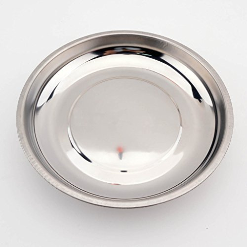 OTOAUTOPARTS 6'' Round Stainless Steel Magnetic Parts Holder, Magnetic Tray, Magnetic Metal Parts Dish Tray