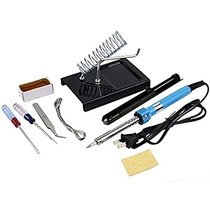 Juego de herramientas eléctricas de soldadura 9 en 1 con soporte para desoldar y bomba de