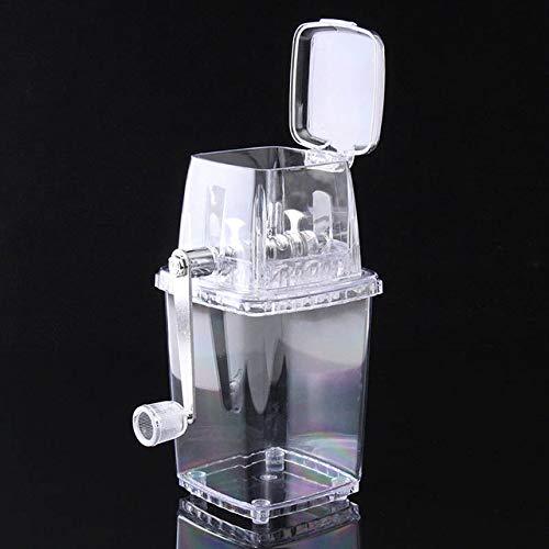 (Fiesta Manual Ice Crusher Shaver Transparent Shredding Machine Portable Snow Cone Maker HG99: As show)
