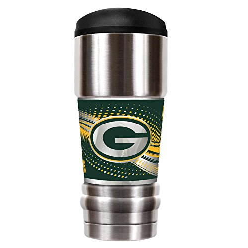 Great American Products NFL Green Bay Packers Unisex NFL Packers 18 oz Vacuum Insulated MVP Tumblr, Silver