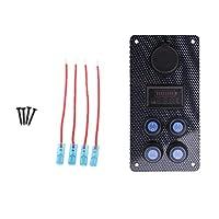 Jili Online Boat Switch Panel Battery Level Indicator Voltmeter Dual USB Charger Blue Led