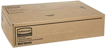 Rubbermaid Commercial FG500888GRAY Outdoor / Indoor Linear Low-Density Can Liners, Gray