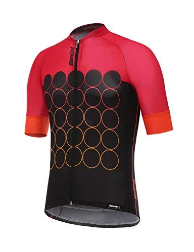 m 3.0 Short Sleeve Jersey, Red, Medium (Santini Lightweight Jersey)