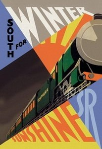 South for Winter Sunshine - Southern Railroad 20x30 poster