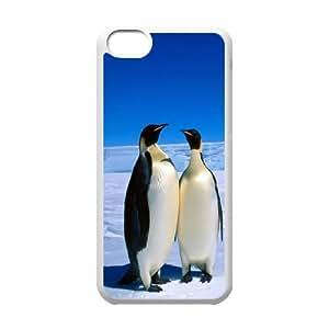 Unique Design -ZE-MIN PHONE CASE- For Iphone 5c -Funny Penguin-CUSTOM-DESIGH 17