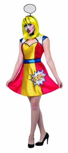 Rasta Imposta Women's Pop Art Girl, Multi, One Size - Pop Art Costumes
