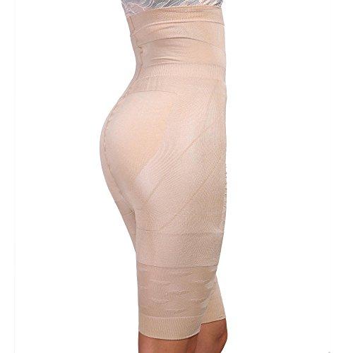 Vansop Womens Mid Thigh Bodysuit Tummy Control Waist Slimming Full Body Girdle(Apricot XXXL?