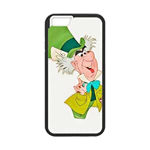 iPhone 6 4.7 Inch Cell Phone Case Black Disney Alice in Wonderland Character Mad Hatter 003 WH9474475
