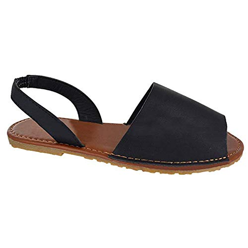 - Women Flat Sandals Casual Summer Slip On Sandals Fish Mouth Slingback Peek Toe Flat Shoes Cork Sole Leather Flat Mayari Sandals