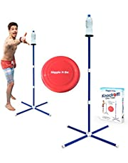 GIGGLE N GO Outdoor Games for Adults and Family - Fun Lawn Games or Beach Games for Adults and Family or Giant Yard Games for Kids and Adults. Play on Any Surface. Ideal as Carnival Games Outdoor