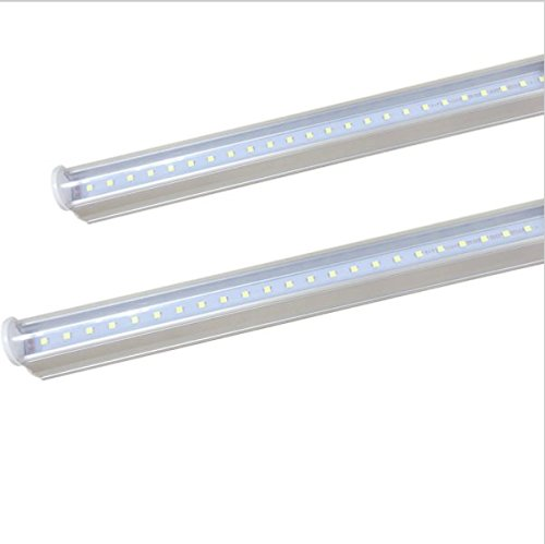 72pcs LED 50,000 hours transparent cover 40w equivalent CIDASXL T5 LED tube for 3 feet 1 pack 14W, 1600 lumens double-sided connection LED tube 6000K