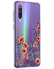 Oihxse Mandala Flores Encaje Patrón Serie Case Compatible con Huawei Nova 5z Funda TPU Silicona Suave Protector Ultra Slim Anti-Rasguño Transparente Carcasa (A12)
