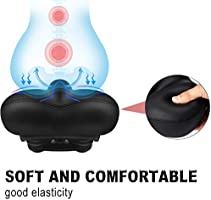 Karetto Bike Seat for Women Men-Replacement Wide Bicycle Saddle Memory Foam Waterproof Padded Soft Bike Cushion with Dual Shock Absorbing Rubber Balls Universal Fit for Indoor//Outdoor Bikes
