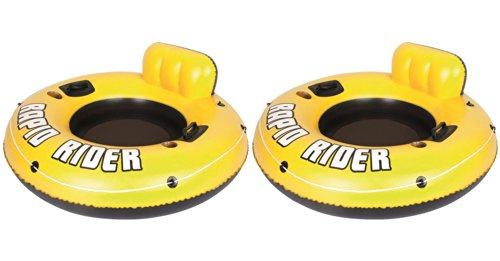 "Bestway 2-Pack Rapid Rider 53"" Raft Tubes with Handles/Cup Holders 