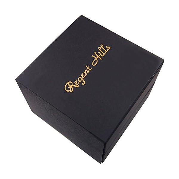 Regent-Hills-Brass-Case-Mechanical-Open-Face-Pocket-Watch-with-Hand-Winding-9441CP-RVBK