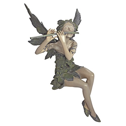 Design Toscano Fairy of the West Wind Sitting Statue