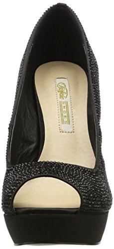 Buffalo Women's Rk 1501-223-a Satin Closed Toe Heels Black (Black 01) 6LBvBG2JV