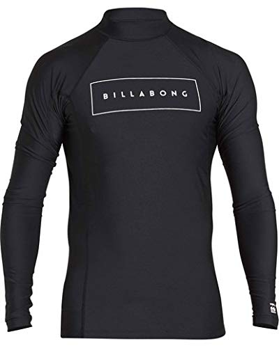 Billabong Men's All Day United Performance Fit Long Sleeve Rashguard, Black, XL billabong rash guard 13