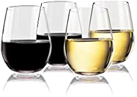 Vivocci Unbreakable 20 oz Stemless Glasses | 100% Tritan Heavy Base | Shatterproof Plastic Glassware | Ideal For Wine, Cocktails, Scotch Perfect For Homes & Bars Barware & Drinkware