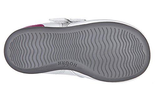 Hogan Zapatos Zapatillas de Deporte Niña EN Piel Nuevo Olympia Plata