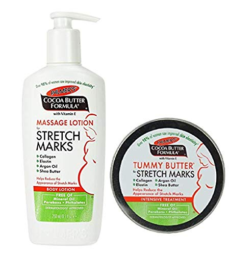 Palmer's Cocoa Butter Tummy Butter 4,4 oz. & Stretch Mark Massage Lotion 8.5 fl. oz. (Original Version) by Palmer's