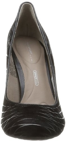 Da donna Rockport Edessa saldati Pompa corte in camoscio nero scarpe v74722