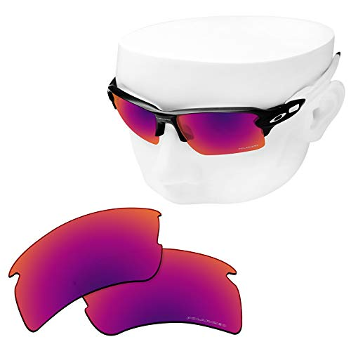 OOWLIT Replacement Lenses Compatible with Oakley Flak 2.0 XL Sunglass Purple Red Combine8 Polarized