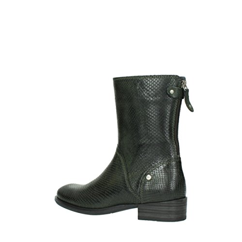 Bottes 373 Comfort leather snake print forest Wolky 04511 nbsp;Yunnan green 5fwqnxdI