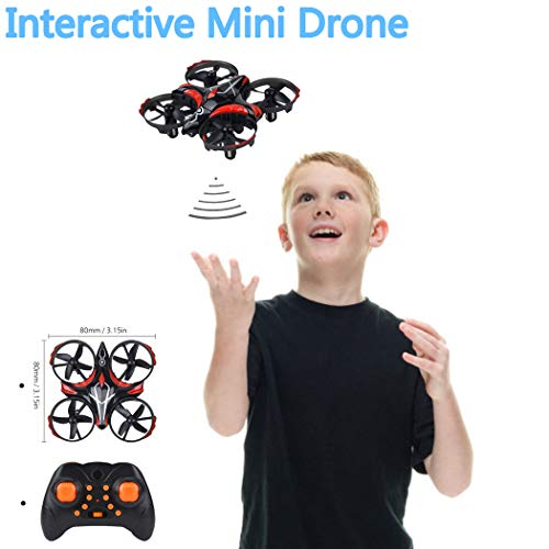 B bangcool Mini Drone, 2.4GHz Interactive Drone Gesture Sensing Mini Quadcopter Drone UFO Quadcopter with 6-Axis Gyroscope, Headless Mode 3D Flip One Key Return (Red)