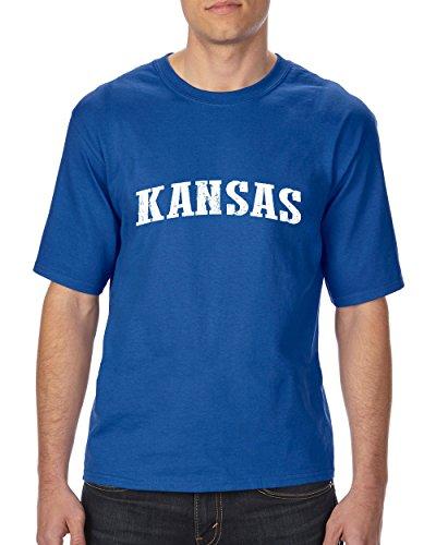 Ugo KS Kansas Map Wichita Topeka Flag Jayhawks Home Kansas University KU Ultra Cotton Unisex T-Shirt Tall - Stores Topeka