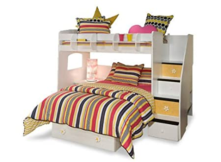 Berg Utica Loft Twin Over Full L Shaped Bunk Bed With Storage