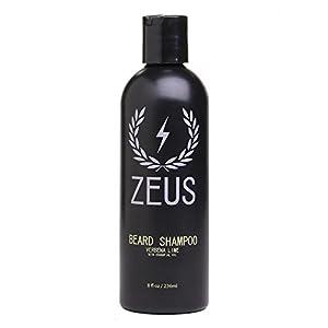 ZEUS Beard Shampoo and Wash, Verbena Lime, 8 Fluid Ounce