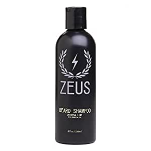 Zeus Beard Shampoo and Wash for Men - 8oz - Beard Wash with Natural Ingredients (Scent: Verbena Lime)