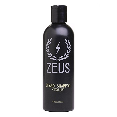 ZEUS Beard Shampoo and Wash, Verbena Lime, 8 Fluid Ounce