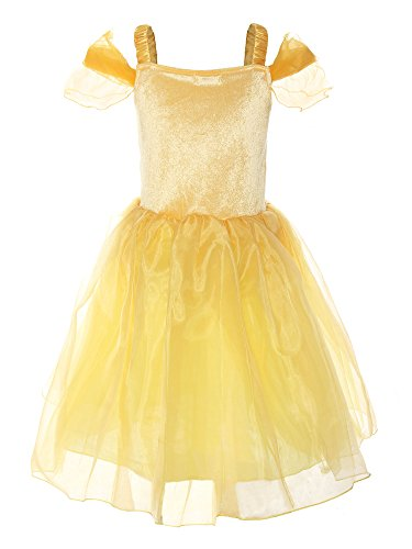 ReliBeauty Little Girl's Princess Belle Costume Dress up RB-G9169, 4T, Yellow - http://coolthings.us