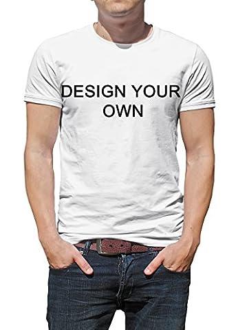 Sbock Custom Mens Breathe Tees Design Your Own Cotton Printed T-shirt White XXXL (How To Get Photoshop Cs6 For Free)