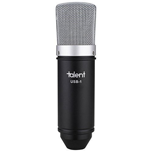 Talent USB-1 Studio Condenser USB Microphone Tripod - Shock Mount - USB Cable by Talent