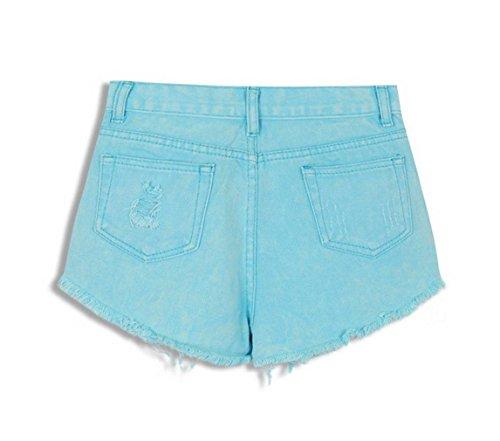 Jean Trous Ciel Taille Ample Haute Plage Et Short Short Hot Femme Basique COMVIP Bleu 81wxfF0w