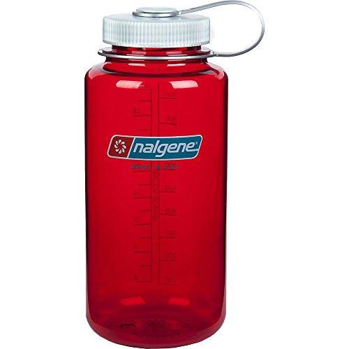 Nalgene Tritan Wide Mouth BPA-Free Water Bottle, 32 Oz, Outdoor red by Nalgene