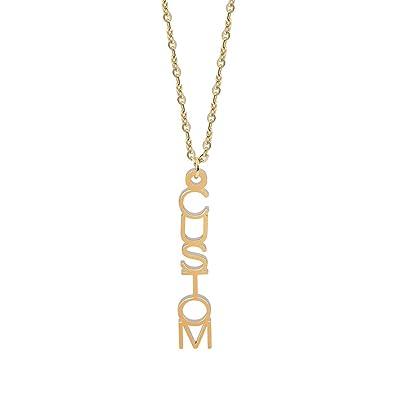 d09067124f206 Amazon.com: JEWELRY OCEAN Vertical Customized Pendants & Necklaces ...