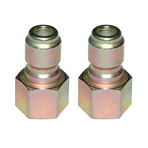 (EDOU Pressure Washer Iron Quick Coupler Plug,5500 PSI 1/4 Inch Female NPT,2-Pack)