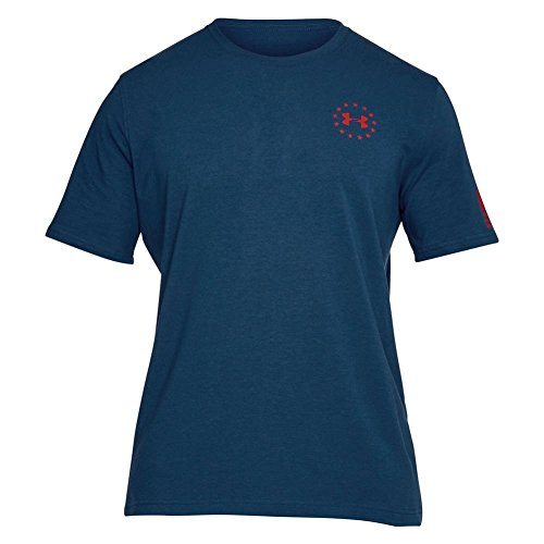Under Armour Men's Freedom Flag Tee Blackout Navy/Red Small Collection Under Armour