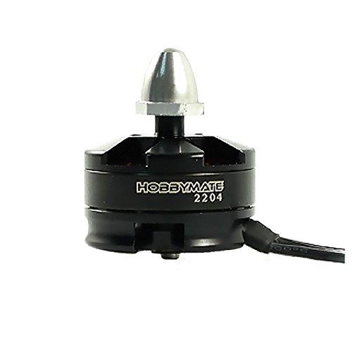 HOBBYMATE 2204 2300KV CCW Brushless Motor Silver Cap Motor For Mini 180, 210, 220, 250 RC Multirotor Quadcopter Drone (Pack of 1 ) (Hobbymate Motor compare prices)